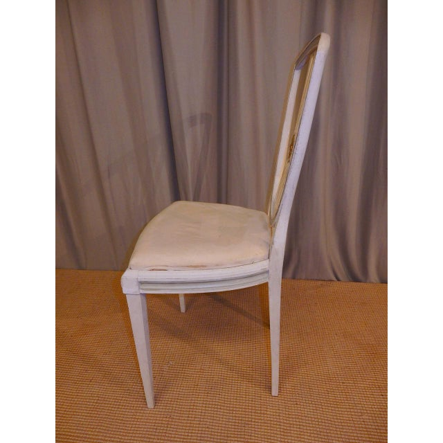 Mid 19th Century Late 19th C Painted Swedish Dining Chairs - Set of 8 For Sale - Image 5 of 9