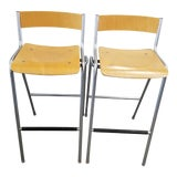 Image of Pair of Thonet Bar Stools For Sale