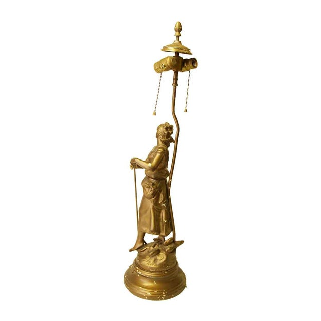 Traditional Figural Lamp For Sale - Image 3 of 10