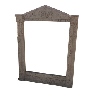 1980's Faux Plaster/Stone Postmodern Wall Mirror For Sale