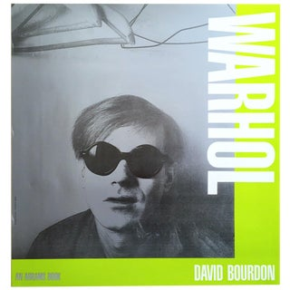 Andy Warhol Rare Vintage 1989 Iconic David Bourdon Abrams Book Harry Schunk 1965 Photo Collector's Pop Art Poster For Sale