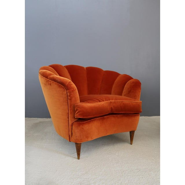 Mid-Century Modern Vintage 1940s Shell Armchairs For Sale - Image 3 of 6