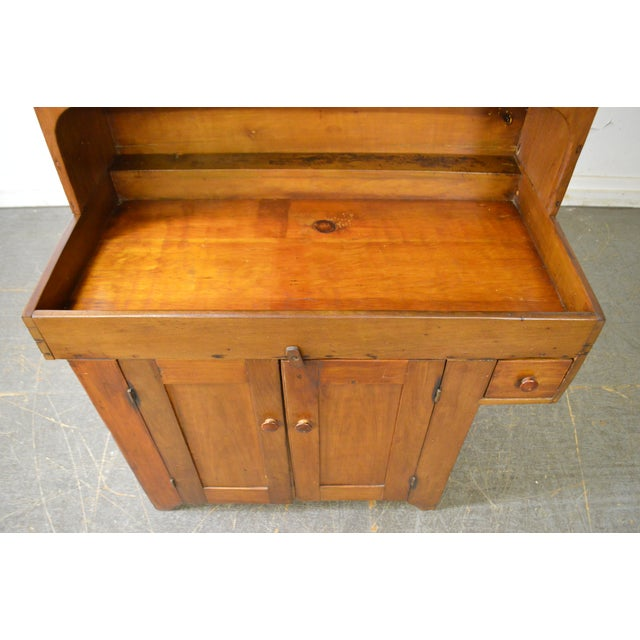 Mid 19th Century Antique 19th Century Country Poplar Dry Sink Cupboard For Sale - Image 5 of 13