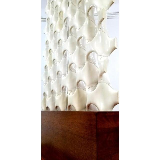 1960s Mid Century Richard Harvey Contemporary 'Sculpta-Bone Grille' Screen For Sale - Image 10 of 13