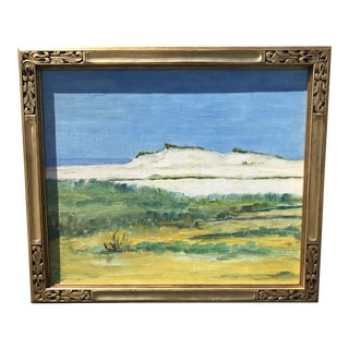 Vintage Mid-Century Seascape Oil on Board Painting For Sale