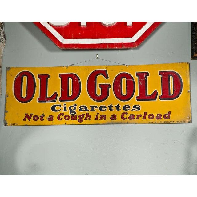 """Old Gold Cigarettes"" sign"