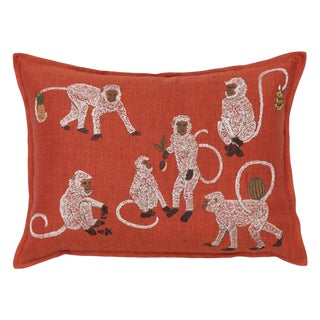Monkey Business Vermilion Pillow