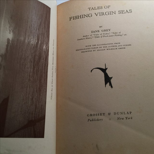 "1925 ""Tales of Fishing Virgin Seas"" by Zane Grey - Image 4 of 11"