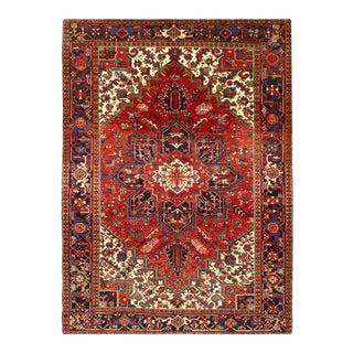 Pasargad Rust Antique Persian Heriz Serapi Rug 7' X 10' For Sale
