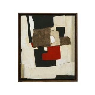 Framed Abstract Collage by Edoardo Menini
