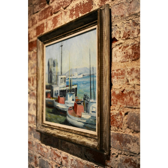 John Earle Coolidge - Boats at the La Harbor 1935 - Oil Painting For Sale In Los Angeles - Image 6 of 9