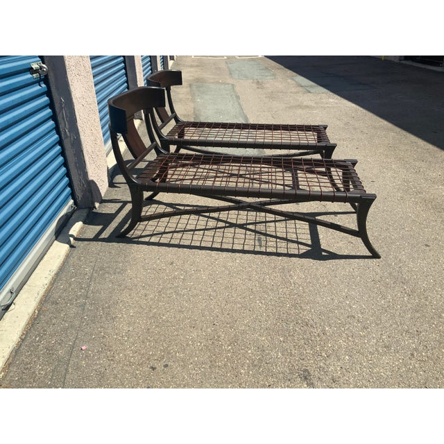 Mid-Century Modern Modern Mid Century Style Chaise Lounges - a Pair For Sale - Image 3 of 10