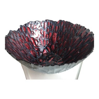 Red Venetian Glass Bowl