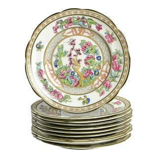 Paragon Indian Tree Plate - Set of 10 For Sale