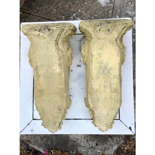 1950s French Limestone Wall Brackets - a Pair For Sale - Image 5 of 6