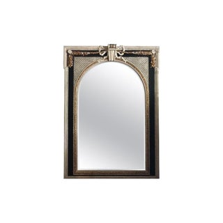 Louis XVI Style Painted Wood Mirror For Sale