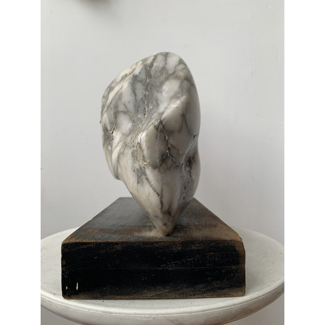 Wood Vintage Abstract Marble Sculpture For Sale - Image 7 of 13