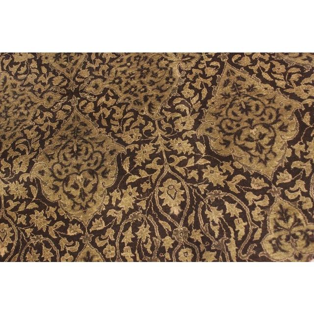 """Design Heritage Shakira Brown & Green Wool Rug - 12'2"""" x 17' For Sale - Image 4 of 7"""