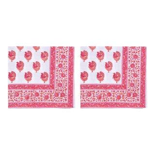 Tia Napkins, Pink & Orange - A Pair For Sale