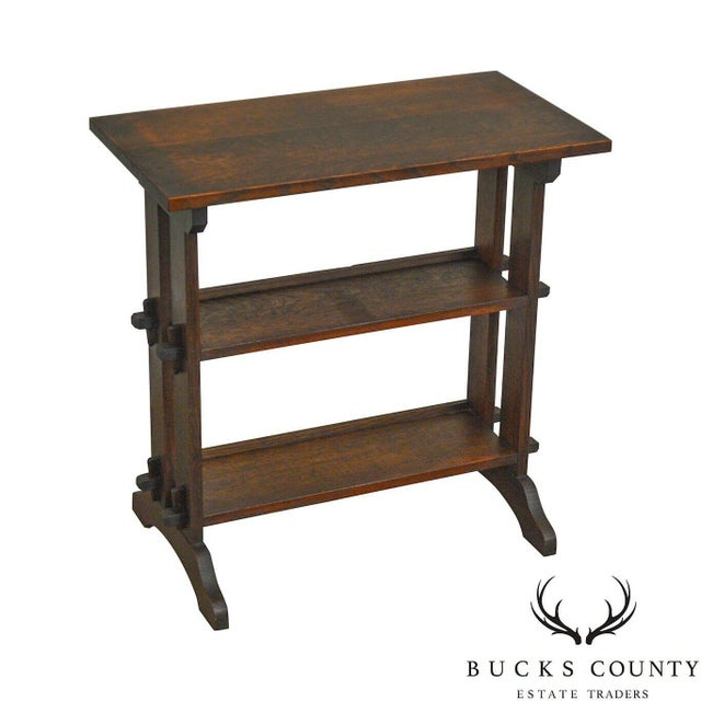 Roycroft Antique Mission Oak Little Journey's Book Stand For Sale - Image 13 of 13