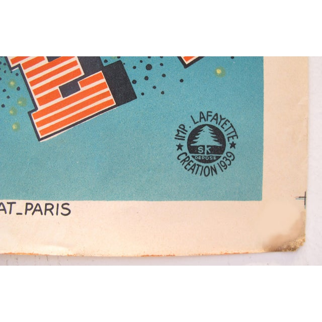 1930s 1939 French Art Deco Poster - Loterie Nationale Advertisement - 16e Tranche 1939 - Plages For Sale - Image 5 of 6