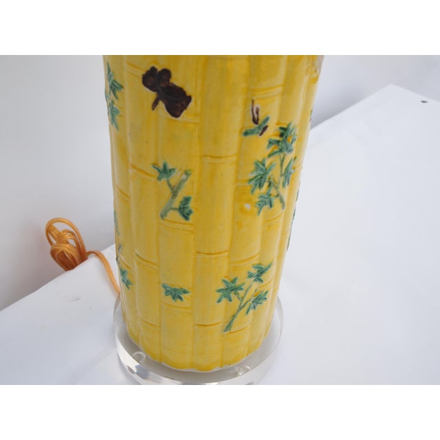 Chinese Chinese Bamboo Form Lamp For Sale - Image 3 of 6