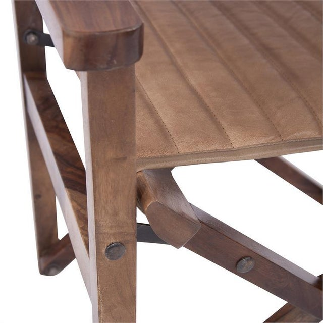 Not Yet Made - Made To Order Kenneth Ludwig Leather Director's Chair For Sale - Image 5 of 8