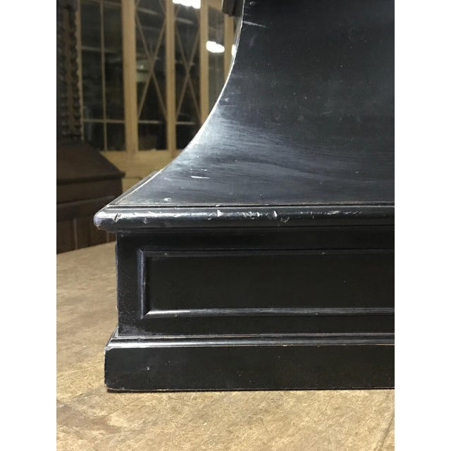 Traditional Mid-19th Century Painted Black Plinth From France For Sale - Image 3 of 5