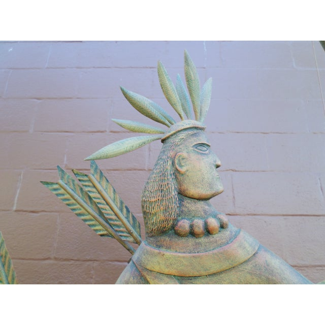 """A large contemporary wooden carving of """"St. Tammany"""" by K. William Kautz, probably inspired by a similar copper..."""