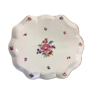 "Herend Porcelain ""Nanking Bouquet"" Scalloped Tray For Sale"