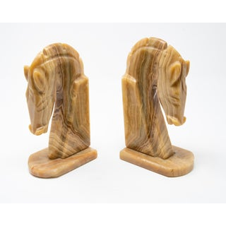 Marble Horse Head Bookends - a Pair Preview
