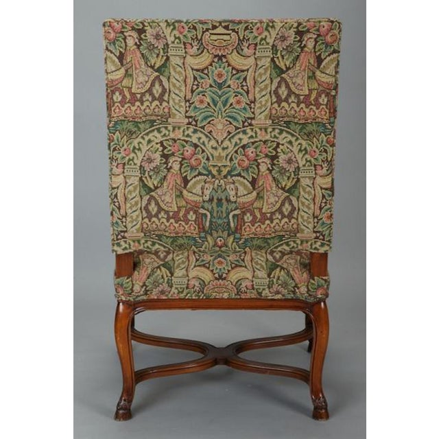 Late 19th Century French 19th Century Bergere Covered In Old World-Style Tapestry For Sale - Image 5 of 8