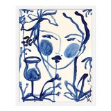 "Image of Medium ""Flowers and Wine Indigo"" Print by Leslie Weaver, 19"" X 24"" For Sale"