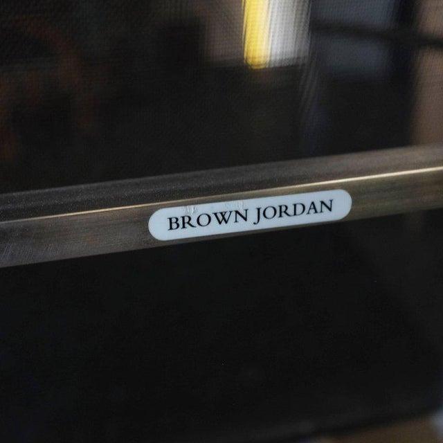 Metal Brown Jordan Brushed Aluminium Tubular Patio Lounge, circa 1980 For Sale - Image 7 of 7