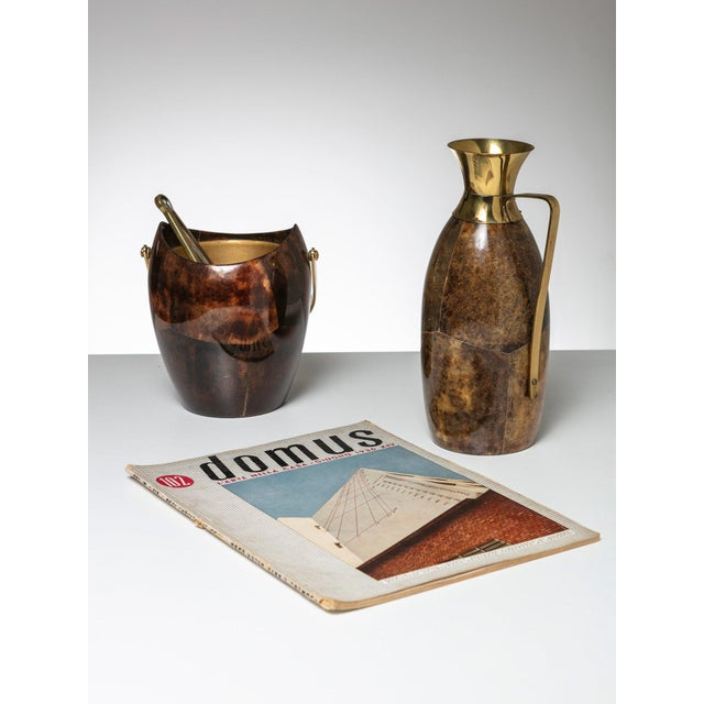 Aldo Tura Ice Bucket and Pitcher by Aldo Tura For Sale - Image 4 of 5