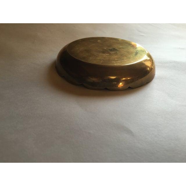 Vintage Brass Octagon Pattern Bowl - Image 6 of 6
