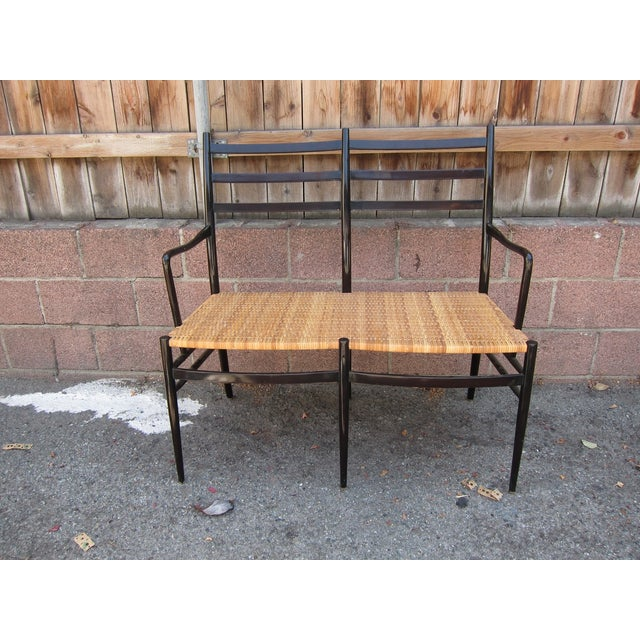 Ebonized King Settee or Bench - Image 2 of 3