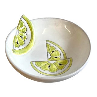 Late 20th Century Vintage Italian Ceramic Lemon Bowl For Sale