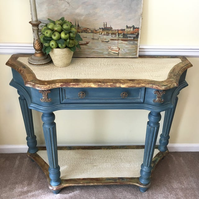 Custom Finished Demi-Lune Console Table - Image 5 of 5