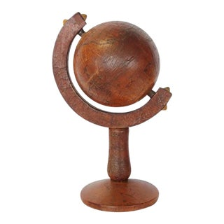 Italian Leather Decorative Desk World Globe