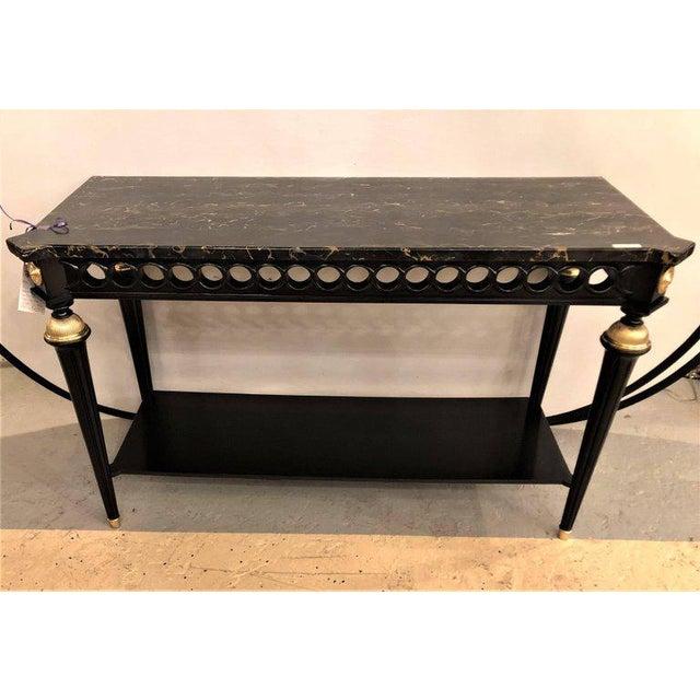 World class jansen style ebonized marble top bronze mounted console jansen style ebonized marble top bronze mounted console or sofa table image 7 of watchthetrailerfo