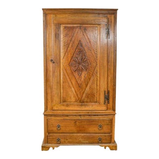 French Provincial Carved Walnut Cabinet