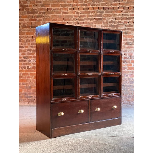 Haberdashery Drapers Shop Display Cabinet Mahogany Loft Style, circa 1940 For Sale - Image 10 of 11