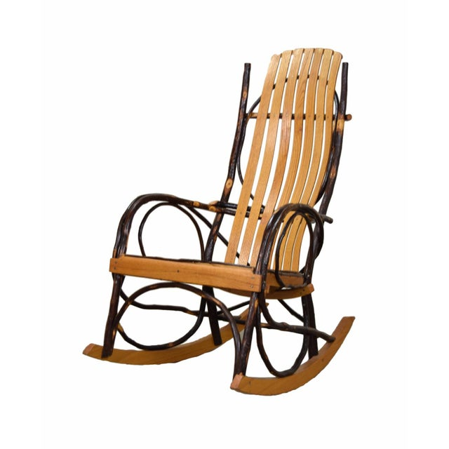 Rustic 20th Century Rustic a.c. Latshaw Bentwood Hickory Twig Rocker Chair For Sale - Image 3 of 5