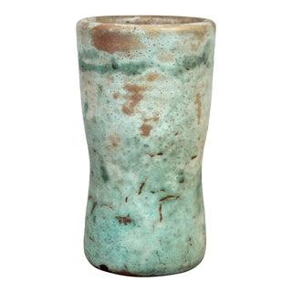 Small Vintage Mobach Teal Vase For Sale