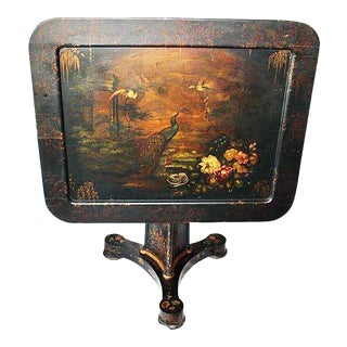 19th Century Chinoiserie Tilt-Top Decorated Table For Sale