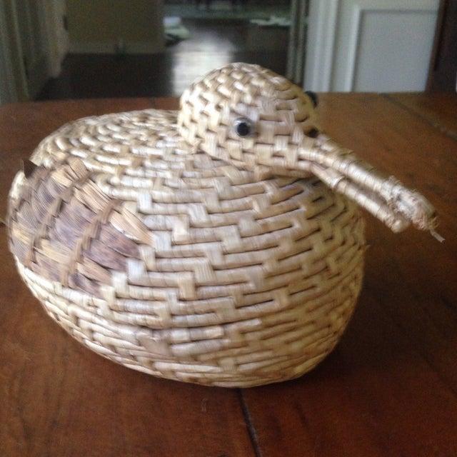 Vintage Natural Wicker/ Straw Bird Basket - Image 9 of 11