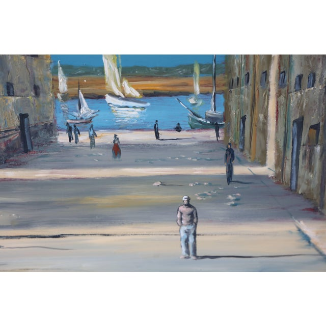 Mid 20th Century Italian Scene Painting Signed Donati For Sale - Image 5 of 9