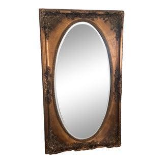 Vintage Victorian Gold Mirror For Sale