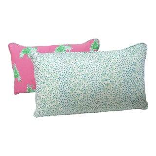 Thibaut & China Seas Fabric Custom Pillows - A Pair For Sale